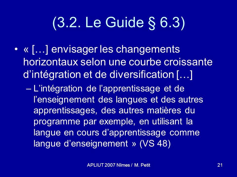 APLIUT 2007 Nîmes / M. Petit21 (3.2.