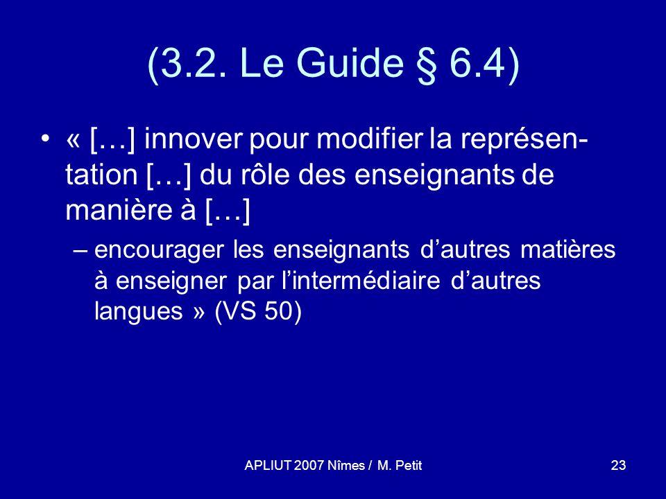 APLIUT 2007 Nîmes / M. Petit23 (3.2.