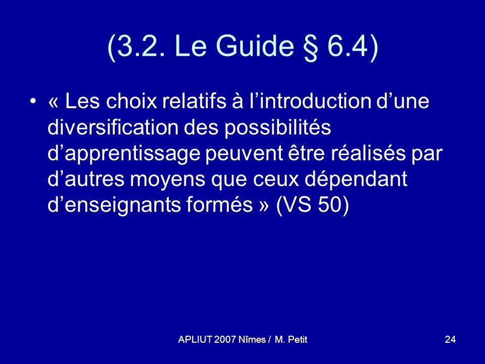 APLIUT 2007 Nîmes / M. Petit24 (3.2.