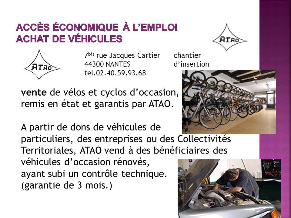 vente de vélos et cyclos doccasion, remis en état et garantis par ATAO.