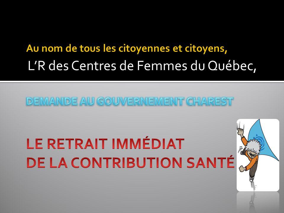 LR des Centres de Femmes du Québec,