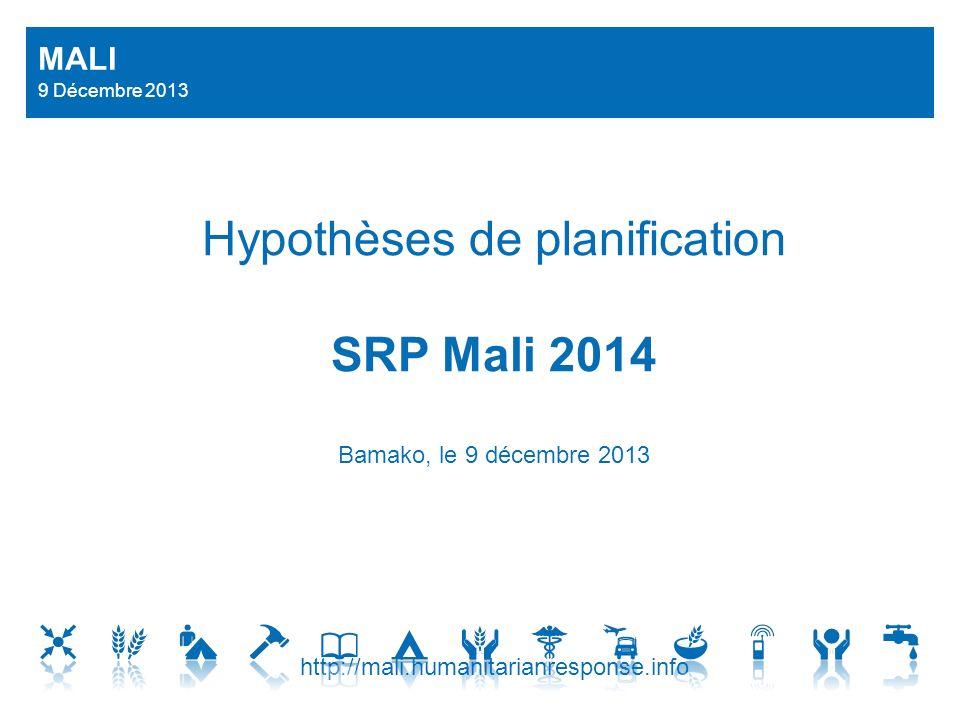 Hypothèses de planification SRP Mali 2014 Bamako, le 9 décembre 2013 http://mali.humanitarianresponse.info MALI 9 Décembre 2013