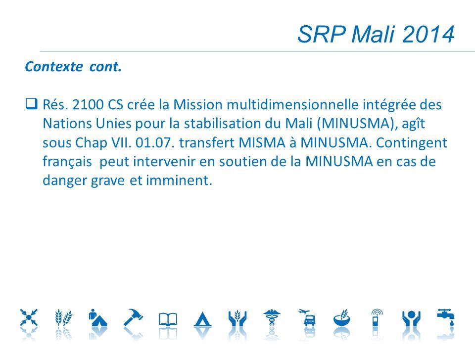 SRP Mali 2014 Contexte cont.Rés.