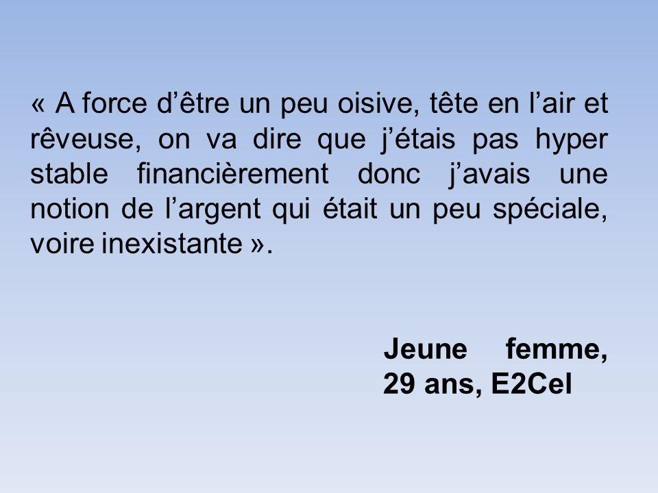 « Aujourdhui jai envie de bâtir » jeune femme, 29 ans, E2Cel