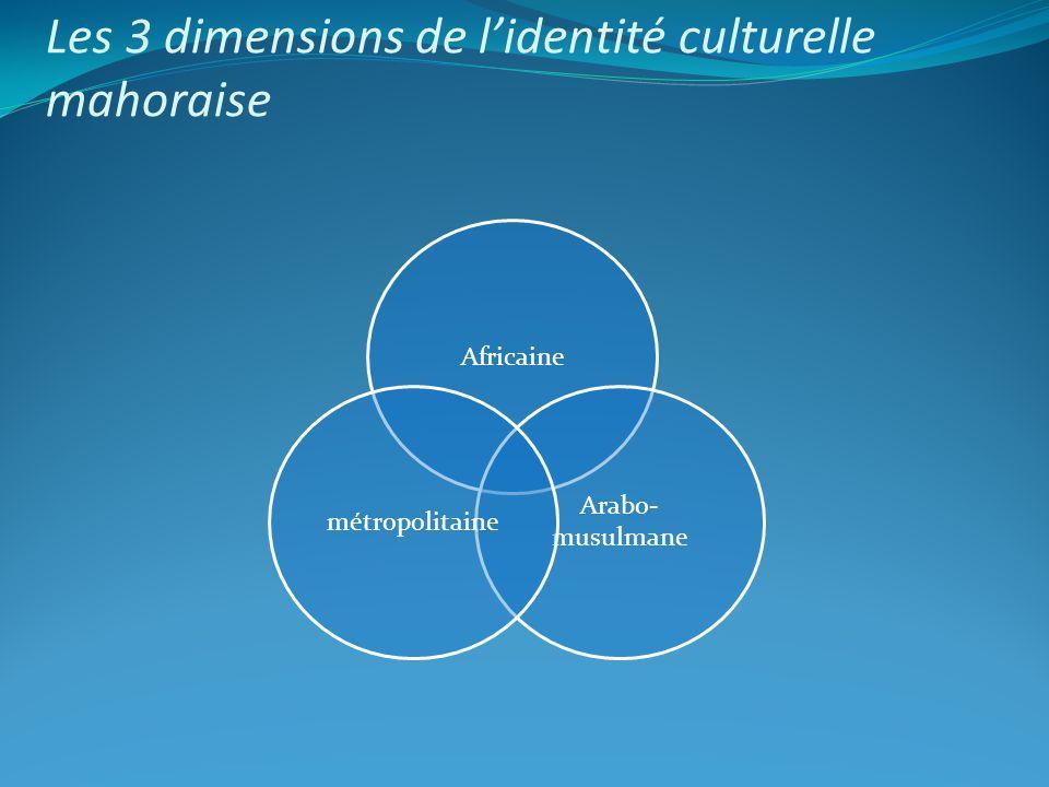 Africaine Arabo- musulmane métropolitaine Les 3 dimensions de lidentité culturelle mahoraise