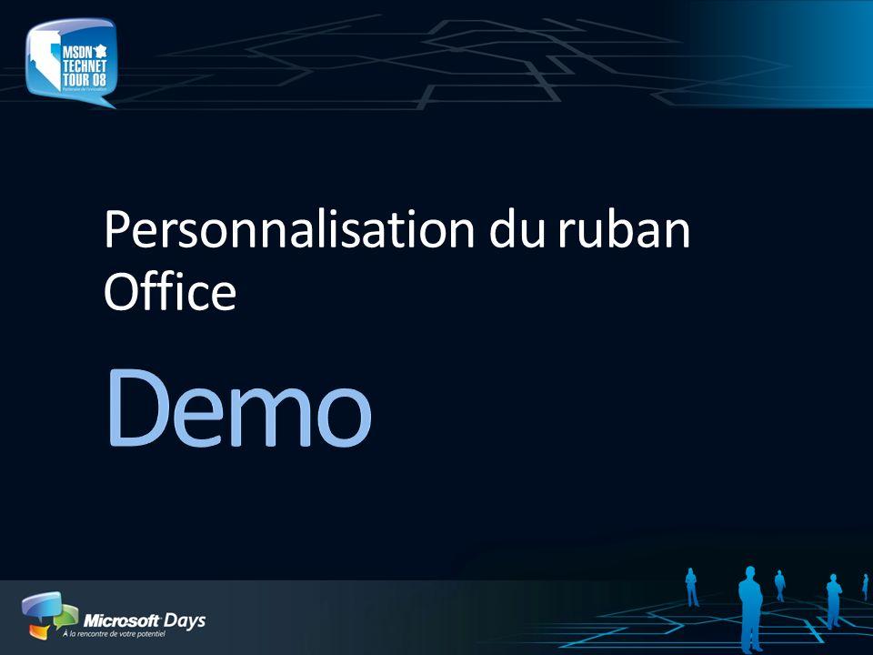 Personnalisation du ruban Office