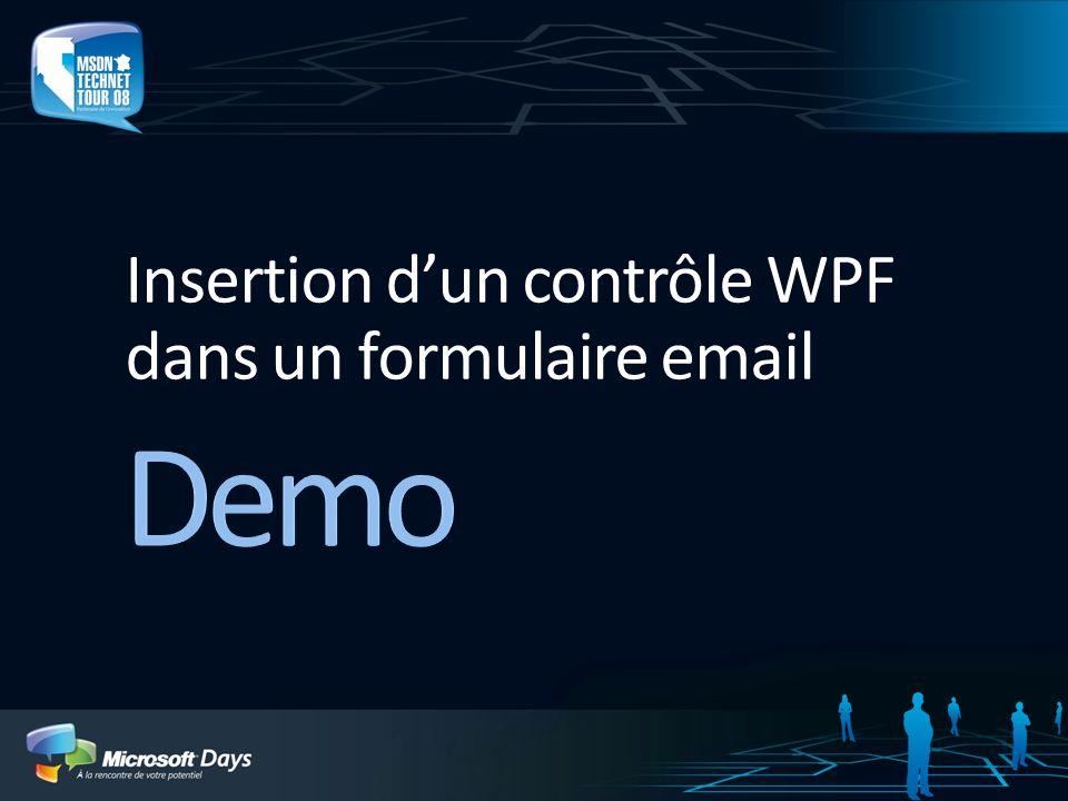 Insertion dun contrôle WPF dans un formulaire email
