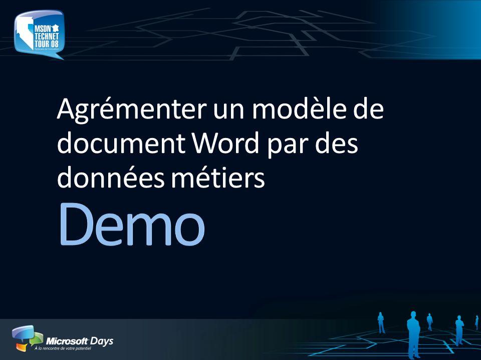 Agrémenter un modèle de document Word par des données métiers