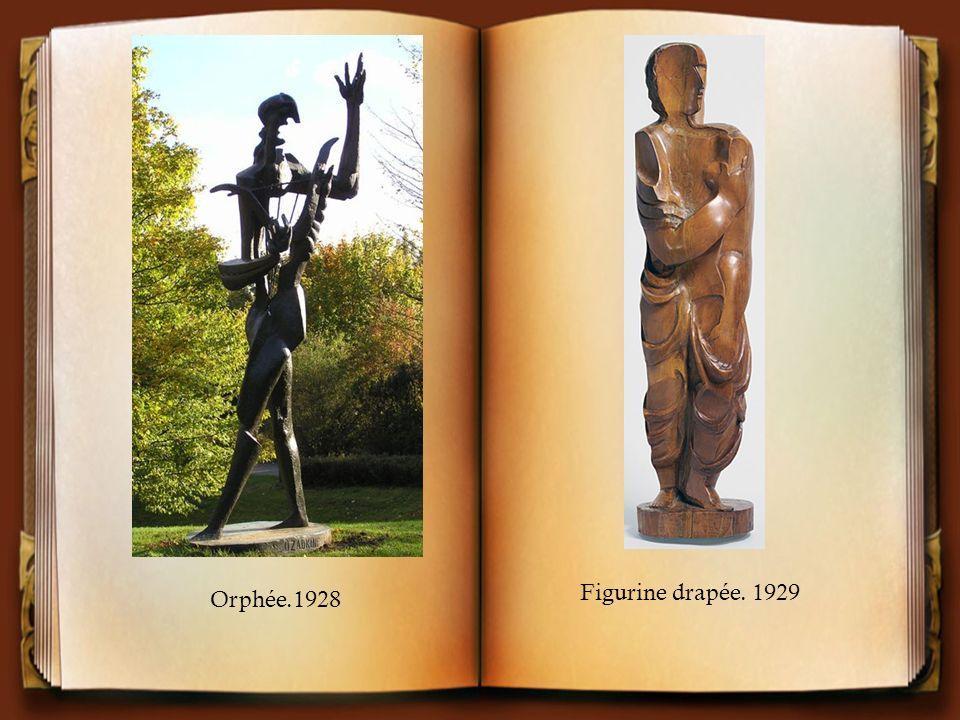 Figurine drapée. 1929 Orphée.1928