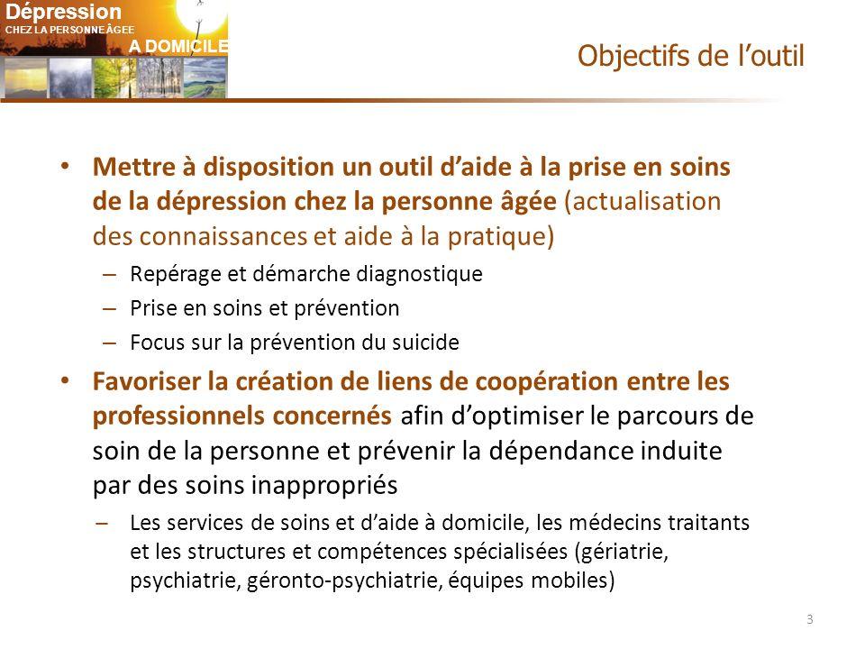 Dépression CHEZ LA PERSONNE ÂGEE A DOMICILE Infos patients : « Dépression .