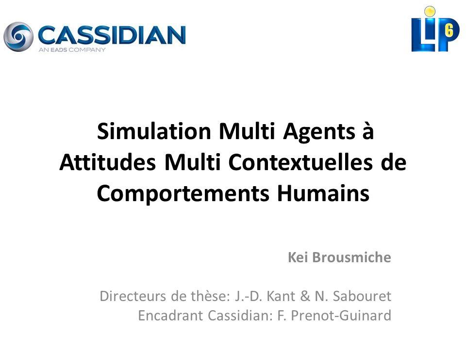 Simulation Multi Agents à Attitudes Multi Contextuelles de Comportements Humains Kei Brousmiche Directeurs de thèse: J.-D. Kant & N. Sabouret Encadran