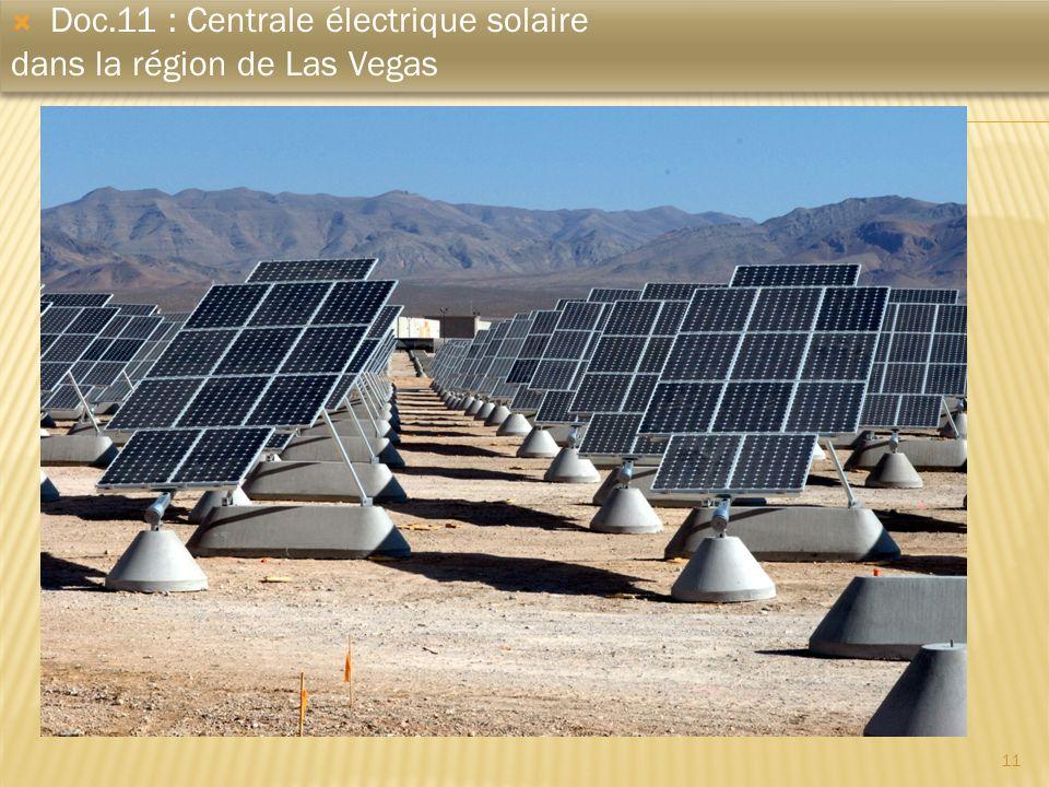11 Doc.11 : Centrale électrique solaire dans la région de Las Vegas Doc.11 : Centrale électrique solaire dans la région de Las Vegas