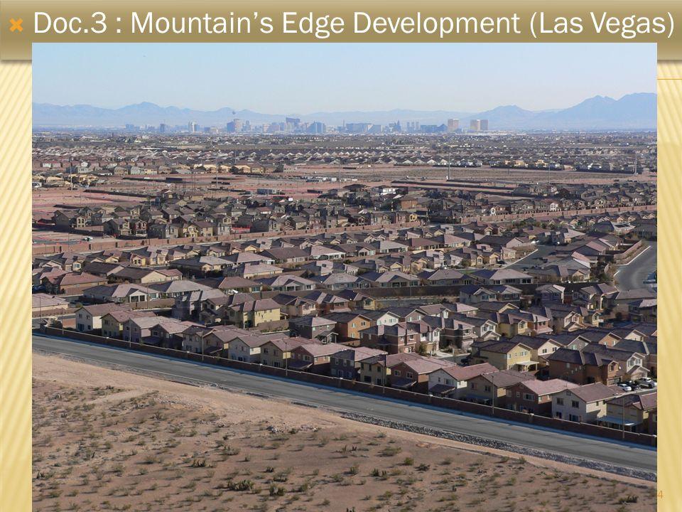 4 Doc.3 : Mountains Edge Development (Las Vegas)