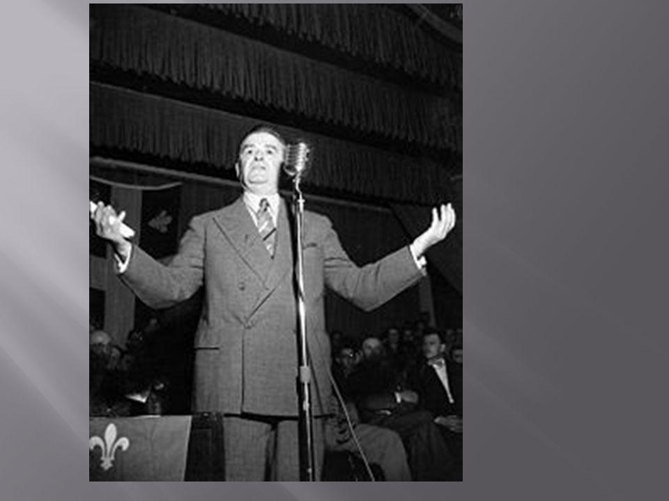 Le premier ministre du Québec, Maurice Duplessis, ne voulait rien changer au Québec à cause quil est main dans la main avec les religieux. Ils sont co