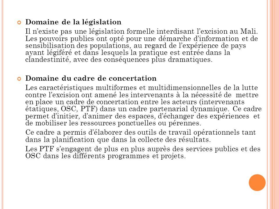 Domaine de la législation Il nexiste pas une législation formelle interdisant lexcision au Mali.