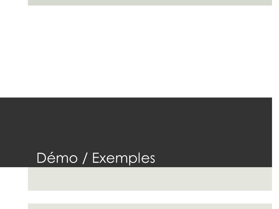 Démo / Exemples