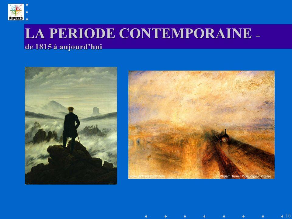 LA PERIODE CONTEMPORAINE – de 1815 à aujourdhui 16