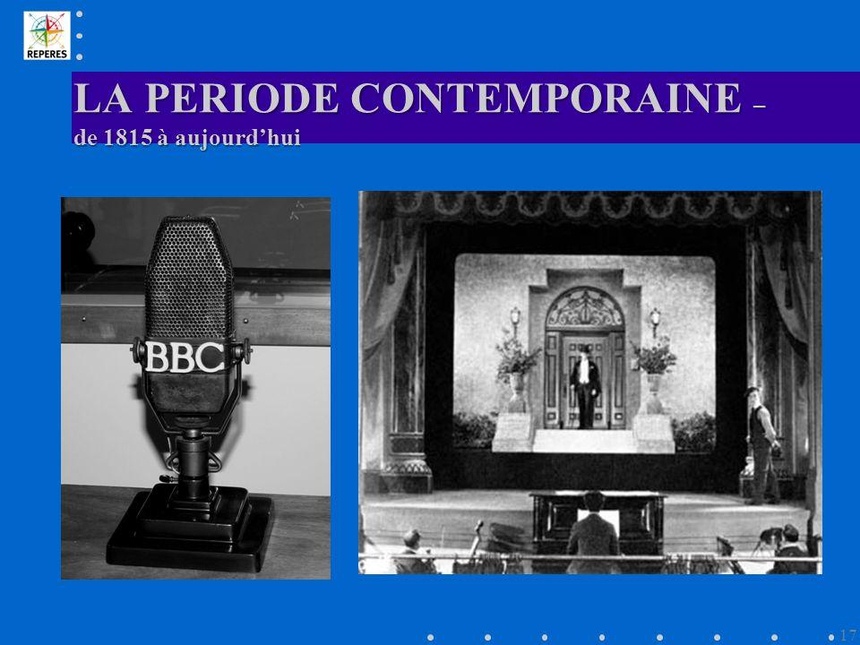 LA PERIODE CONTEMPORAINE – de 1815 à aujourdhui 17