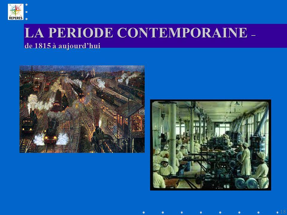 LA PERIODE CONTEMPORAINE – de 1815 à aujourdhui 18