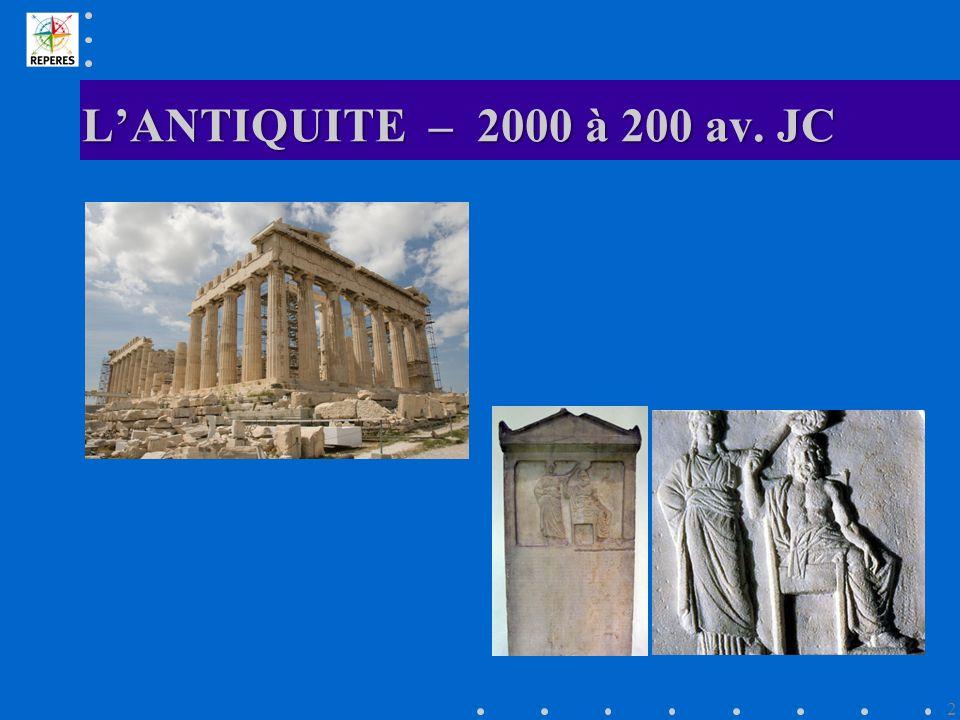 LANTIQUITE – 2000 à 200 av. JC 2