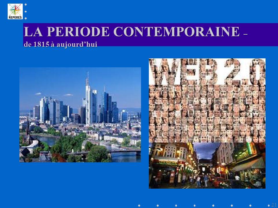 LA PERIODE CONTEMPORAINE – de 1815 à aujourdhui 21