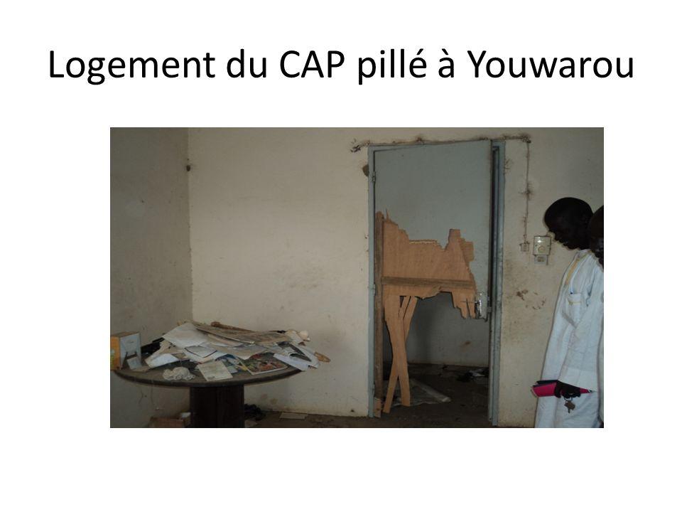 Logement du CAP pillé à Youwarou