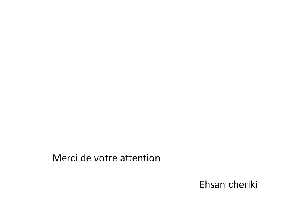 Merci de votre attention Ehsan cheriki