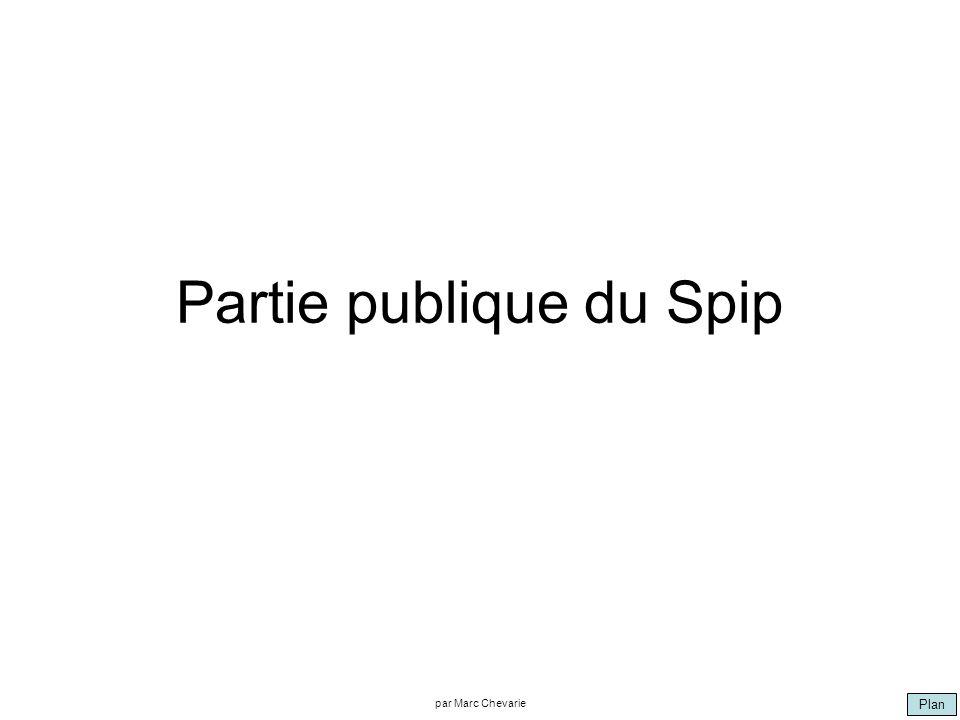 Plan par Marc Chevarie Partie publique du Spip