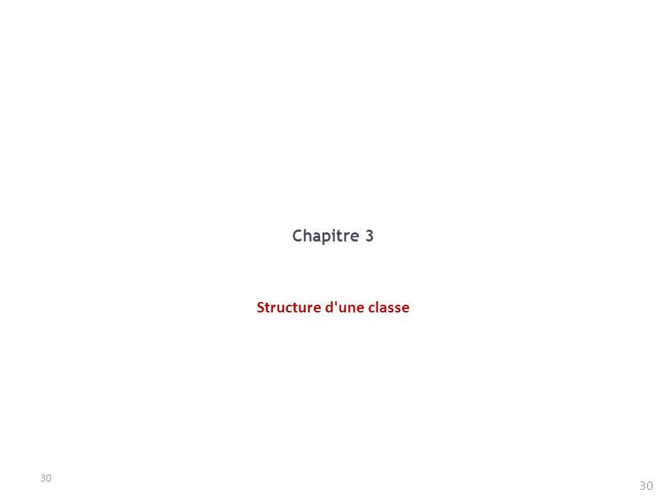 30 Chapitre 3 Structure d'une classe