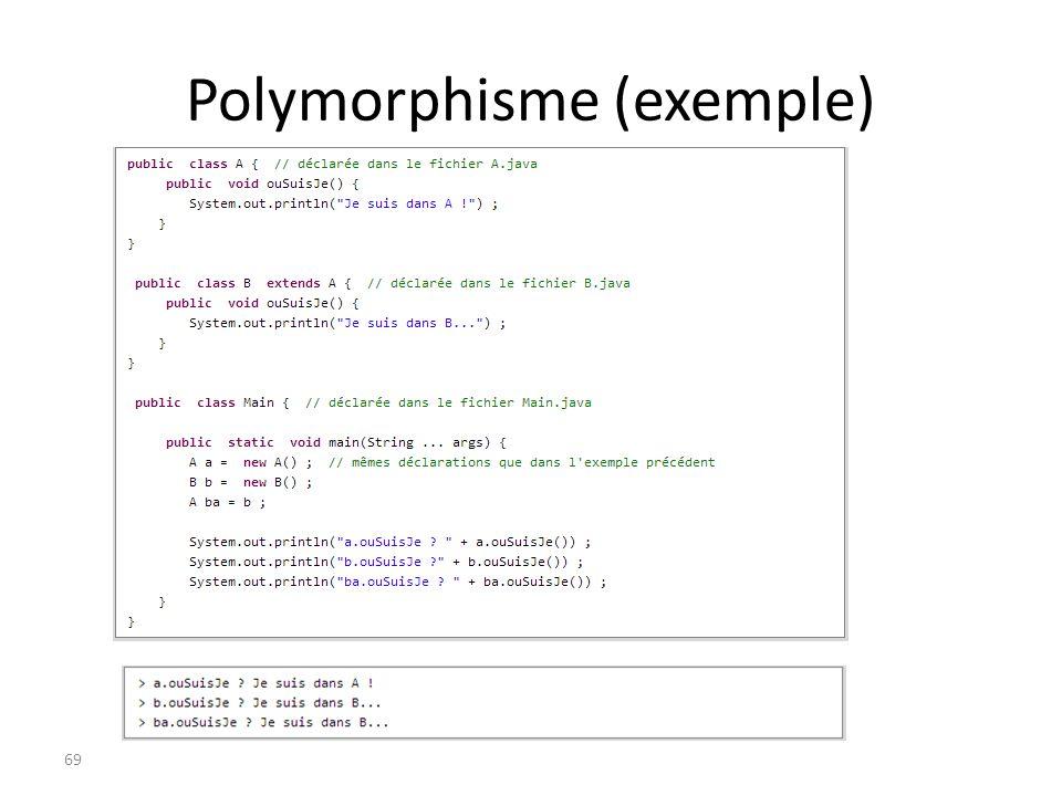 Polymorphisme (exemple) 69