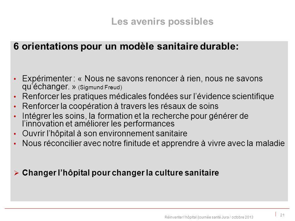 | 6 orientations pour un modèle sanitaire durable: Expérimenter : « Nous ne savons renoncer à rien, nous ne savons quéchanger.