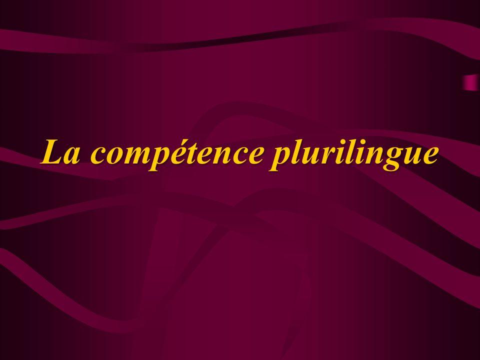 Introduction La notion de compétence plurilingue circule depuis quelques années dans le domaine de la didactique des langues en Europe.