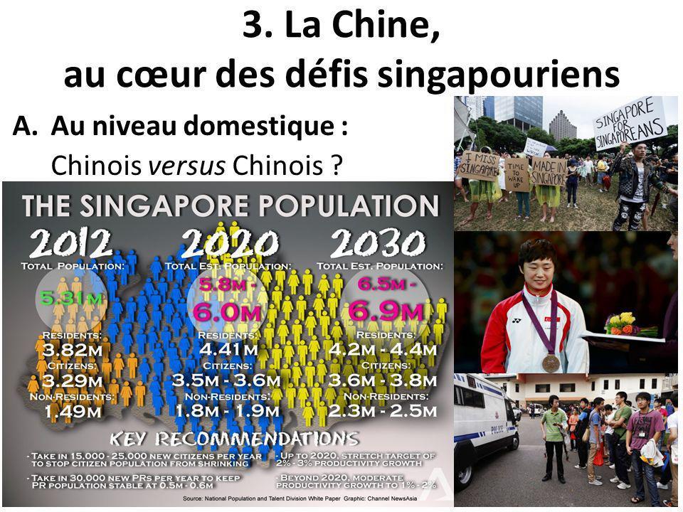 3. La Chine, au cœur des défis singapouriens A.Au niveau domestique : Chinois versus Chinois