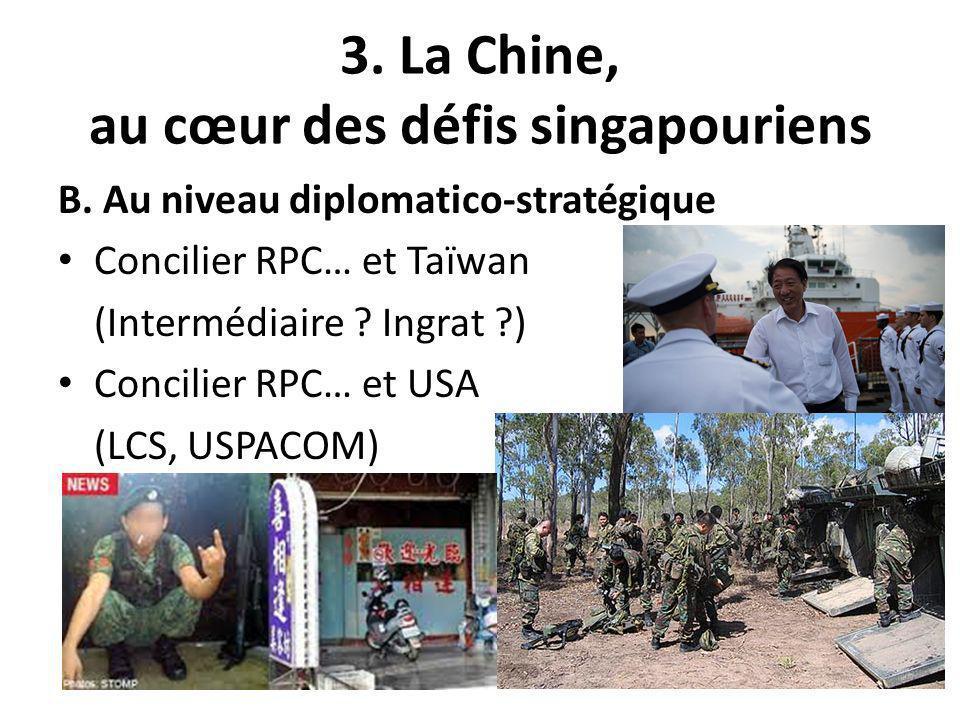 3. La Chine, au cœur des défis singapouriens B.