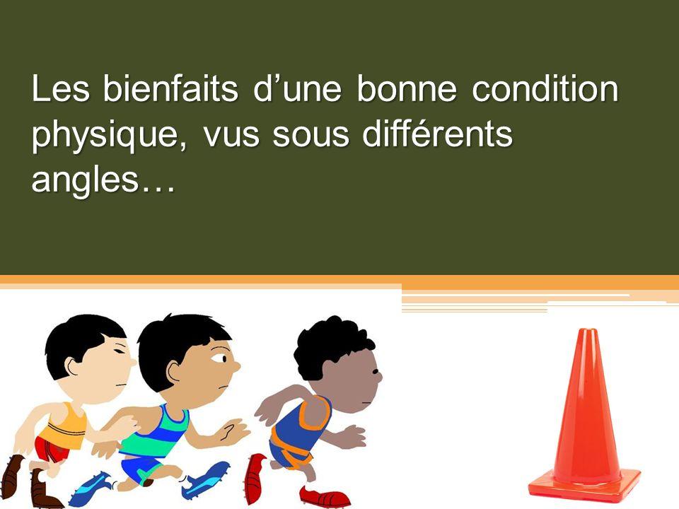 En conclusion, Si on évalue la condition physique de nos élèves on devrait : Tenir compte des indicateurs de santé disponibles (une approche par critères ?).