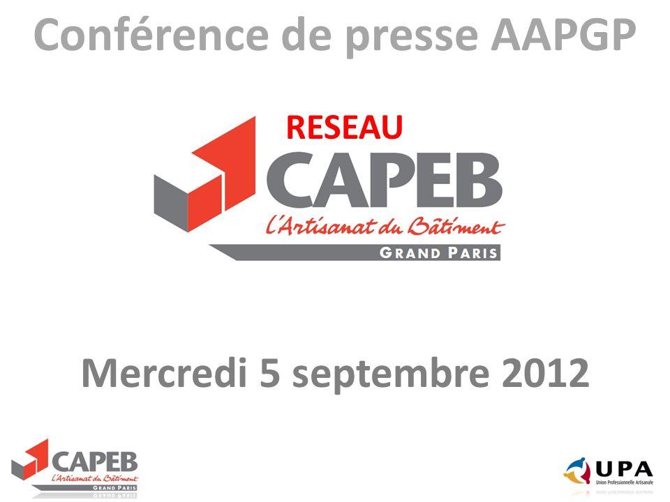 Conférence de presse AAPGP RESEAU Mercredi 5 septembre 2012
