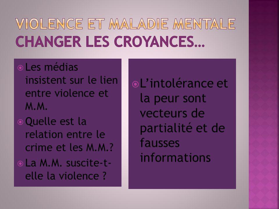Les médias insistent sur le lien entre violence et M.M. Quelle est la relation entre le crime et les M.M.? La M.M. suscite-t- elle la violence ? Linto