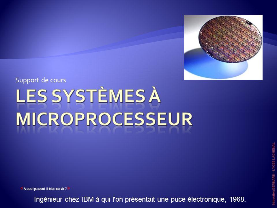 Support de cours « A quoi ça peut-il bien servir ? » Ingénieur chez IBM à qui l'on présentait une puce électronique, 1968. Sébastien BERNARD – LYCEE L