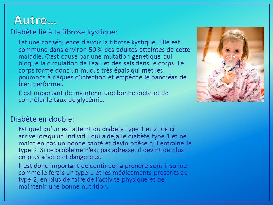 Diabète lié à la fibrose kystique: Est une conséquence davoir la fibrose kystique.