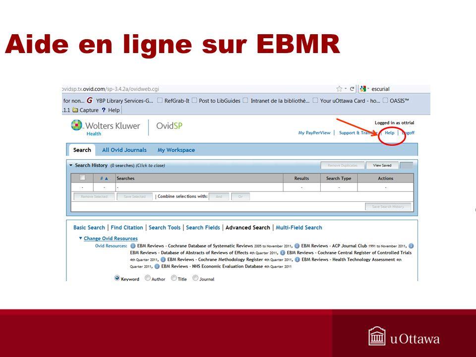 Aide en ligne sur EBMR Pointer sur