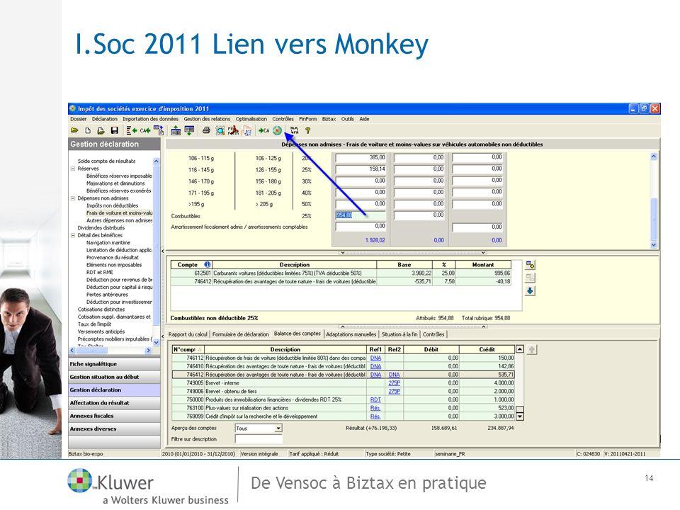 De Vensoc à Biztax en pratique 14 I.Soc 2011 Lien vers Monkey