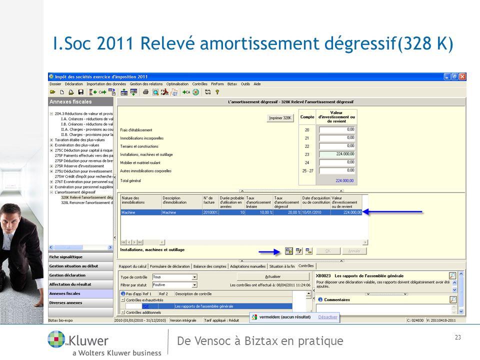 De Vensoc à Biztax en pratique 23 I.Soc 2011 Relevé amortissement dégressif(328 K)