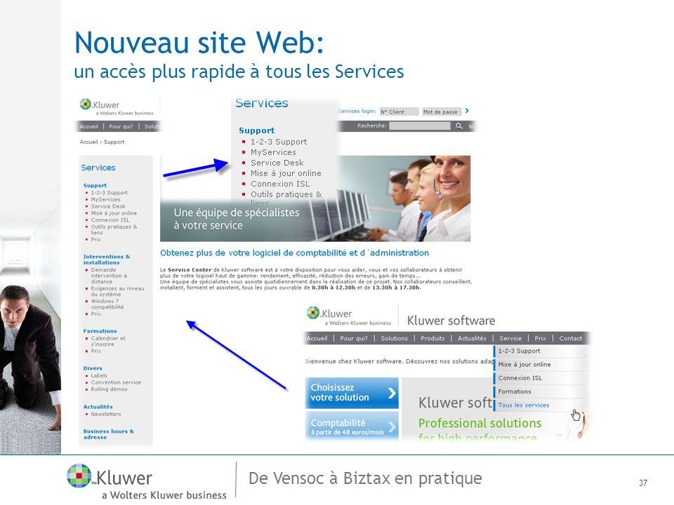 De Vensoc à Biztax en pratique Nouveau site Web: un accès plus rapide à tous les Services 37
