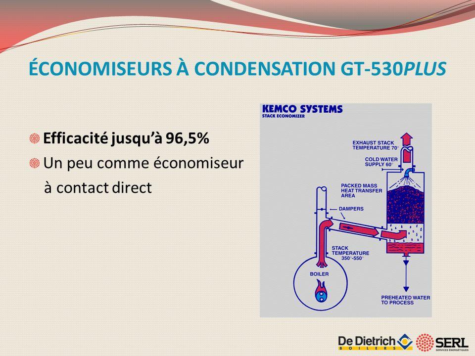 ÉCONOMISEURS À CONDENSATION GT-530PLUS Efficacité jusquà 96,5% Un peu comme économiseur à contact direct