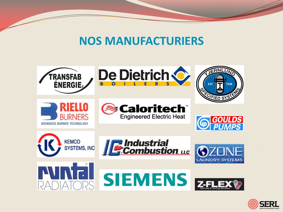 NOS MANUFACTURIERS