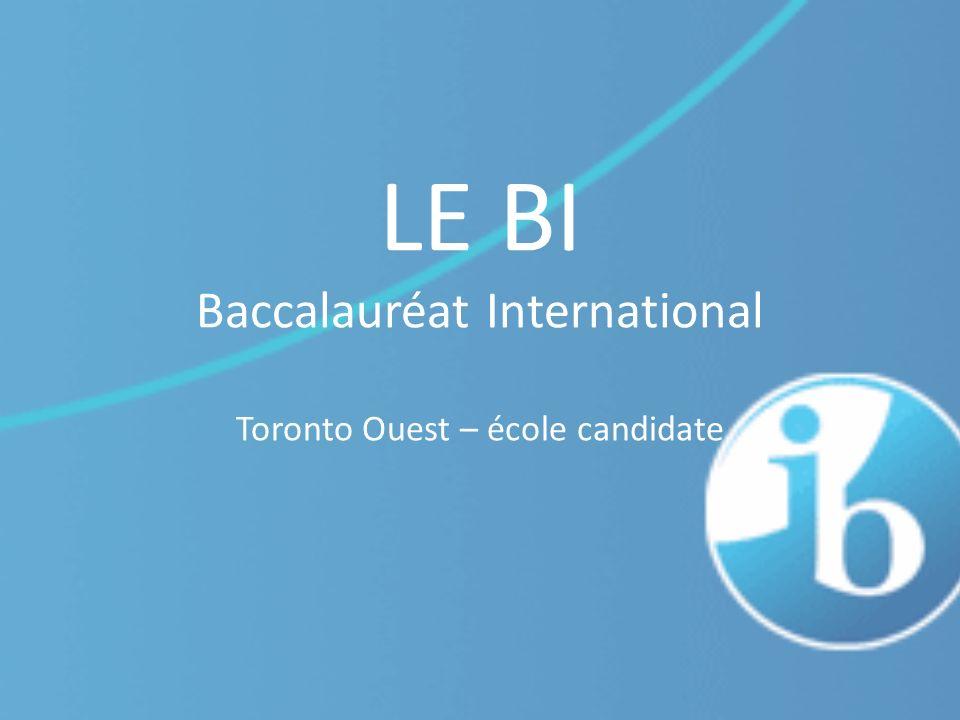 LE BI Baccalauréat International Toronto Ouest – école candidate