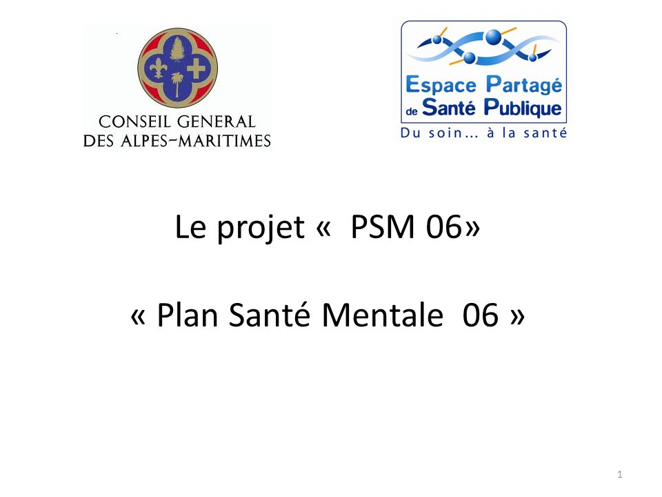 Le projet « PSM 06» « Plan Santé Mentale 06 » 1