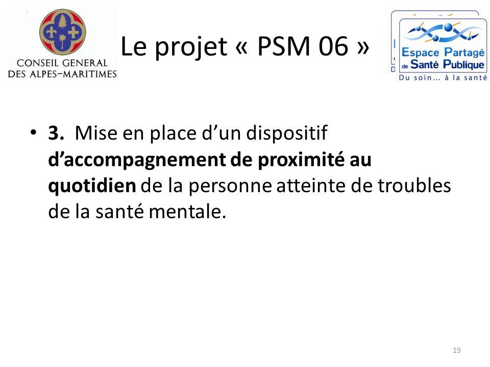 Le projet « PSM 06 » 3. Mise en place dun dispositif daccompagnement de proximité au quotidien de la personne atteinte de troubles de la santé mentale