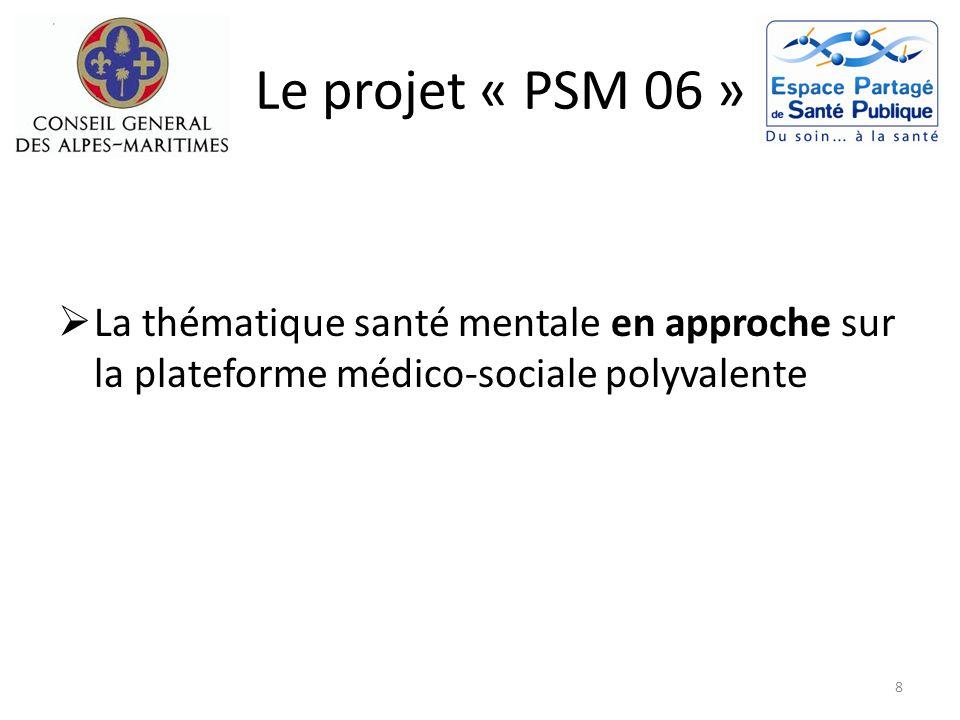 Le projet « PSM 06 » Suicide Depuis la présentation du plan de santé mentale, lARS a repris le financement des modules de formation à destination des professionnels concernés.