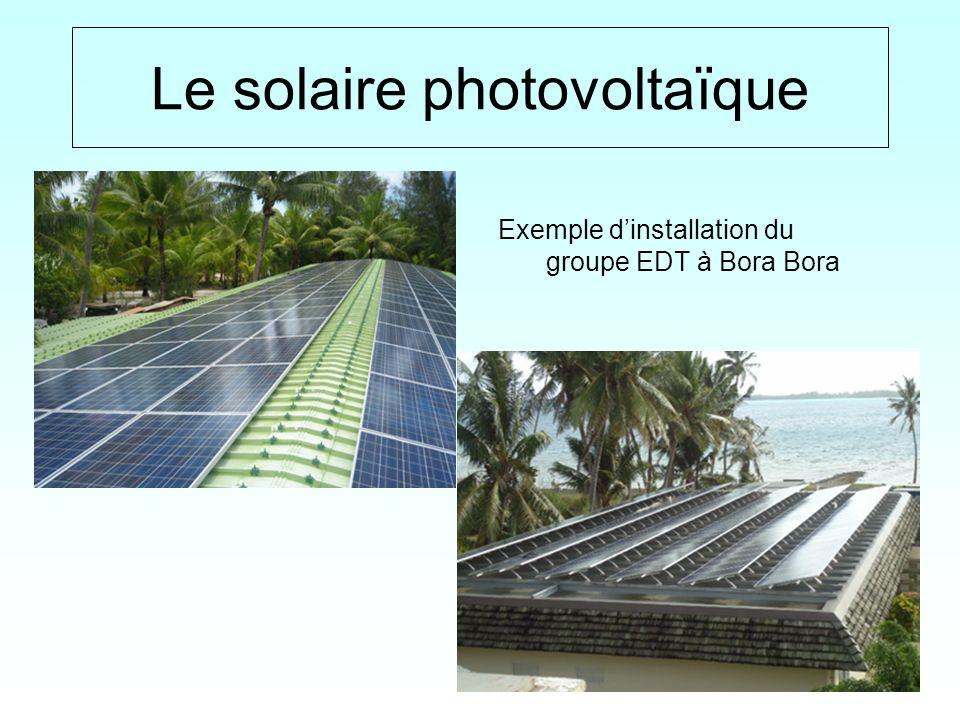 15 / Le solaire photovoltaïque Exemple dinstallation du groupe EDT à Bora Bora